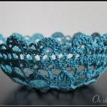 Crochet Bowl Lace Doily Cr..