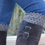 Crochet Boot Cuffs Leg War..